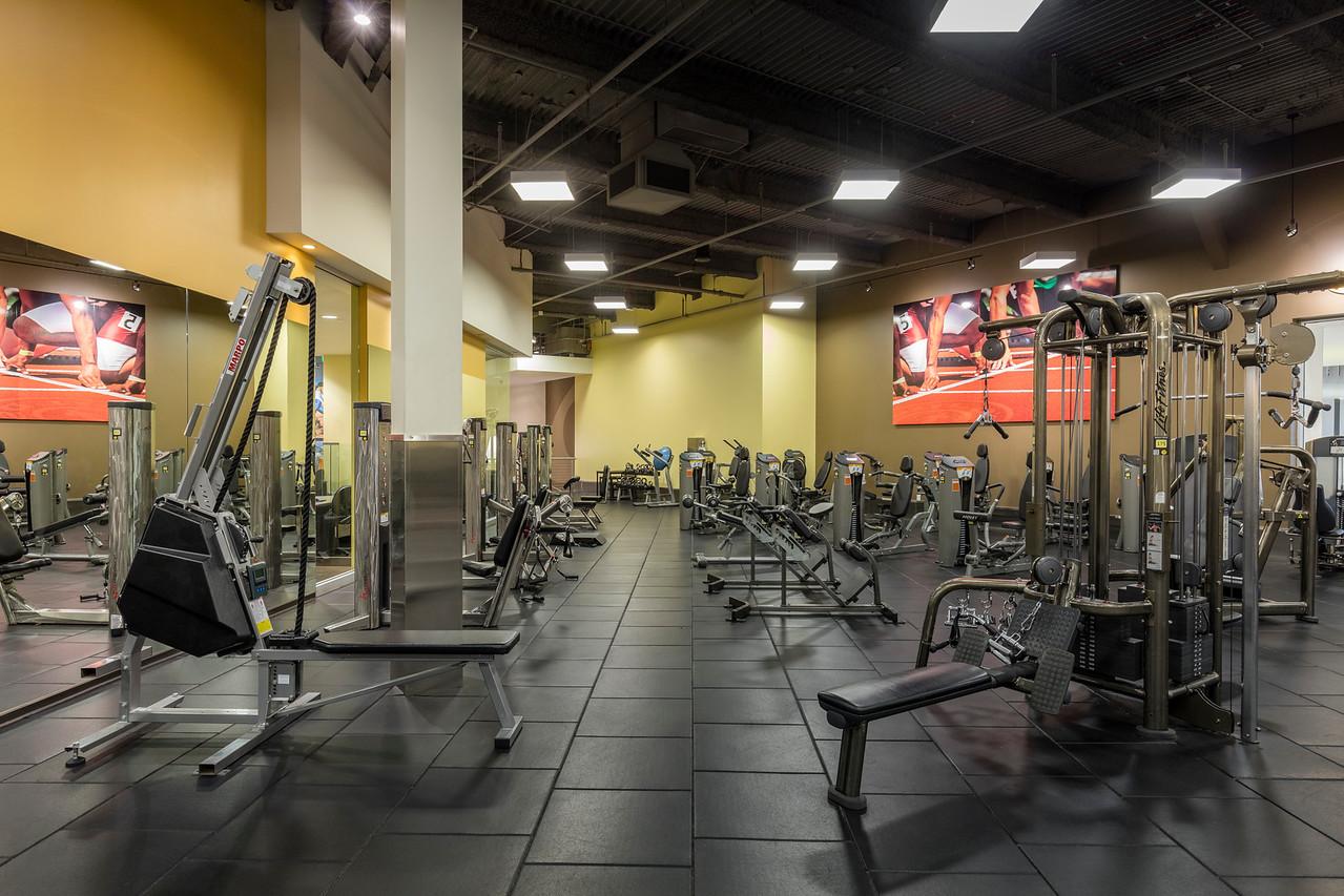 strength training area at arcadia gym