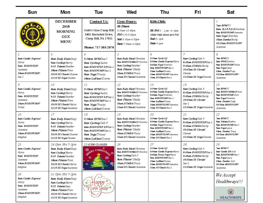 gold's gym camp hill   group exercise classes