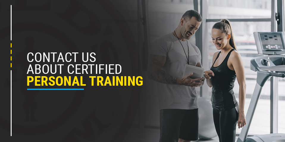 a certified personal trainer shares results with a client in Camp Hill