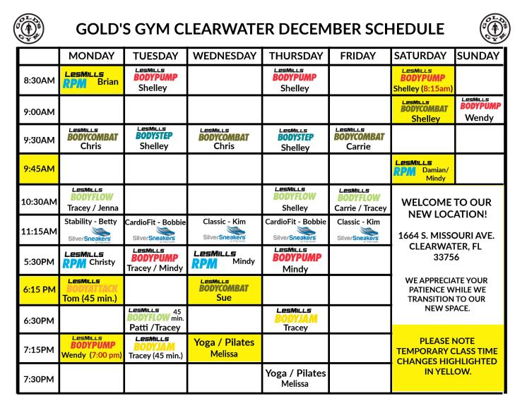 group fitness classes clearwater