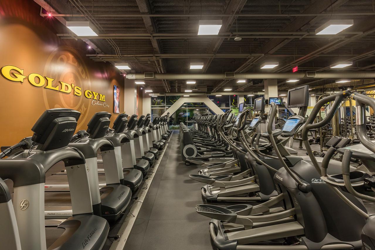 cardio equipment at golds gym culver city