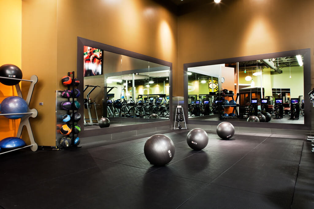 fullerton gym balance balls and stretching area
