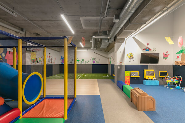 glendale gym childcare play area