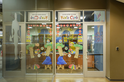 santa barbara gym childcare entrance