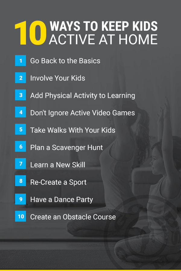 keep kids active at home