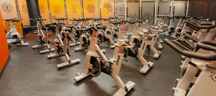 spinning class area at long beach gym