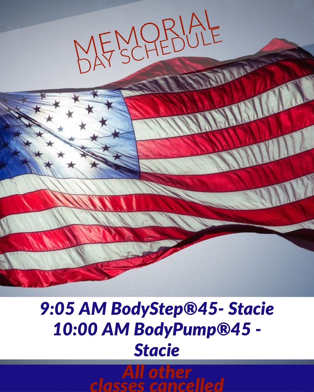 memorial day group fitness schedule gold's gym mechanicsville