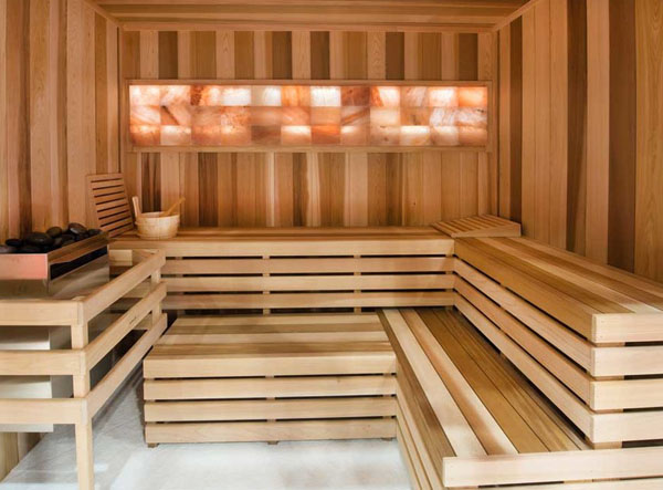 Locker Rooms with Himalayan Salt Saunas