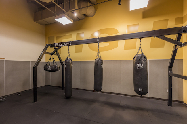 heavy bags boxing area at montclair gym