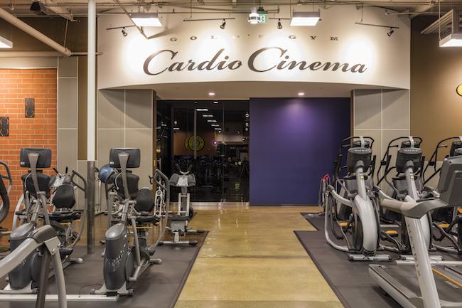 montclair gym cardio cinema entrance
