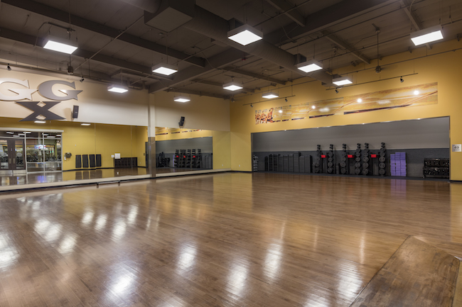 group fitness room at montclair gym