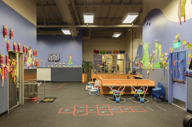 montclair gym childcare area