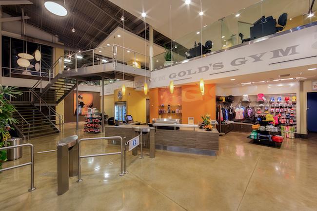 lobby and pro shop at sana ana gym