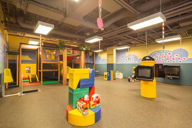 santa ana gym childcare area