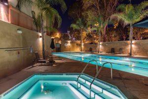 close view of hot tub next to valencia gym pool