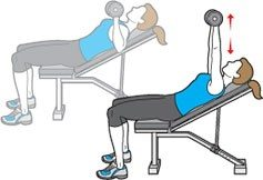 dumbell chest press - woman