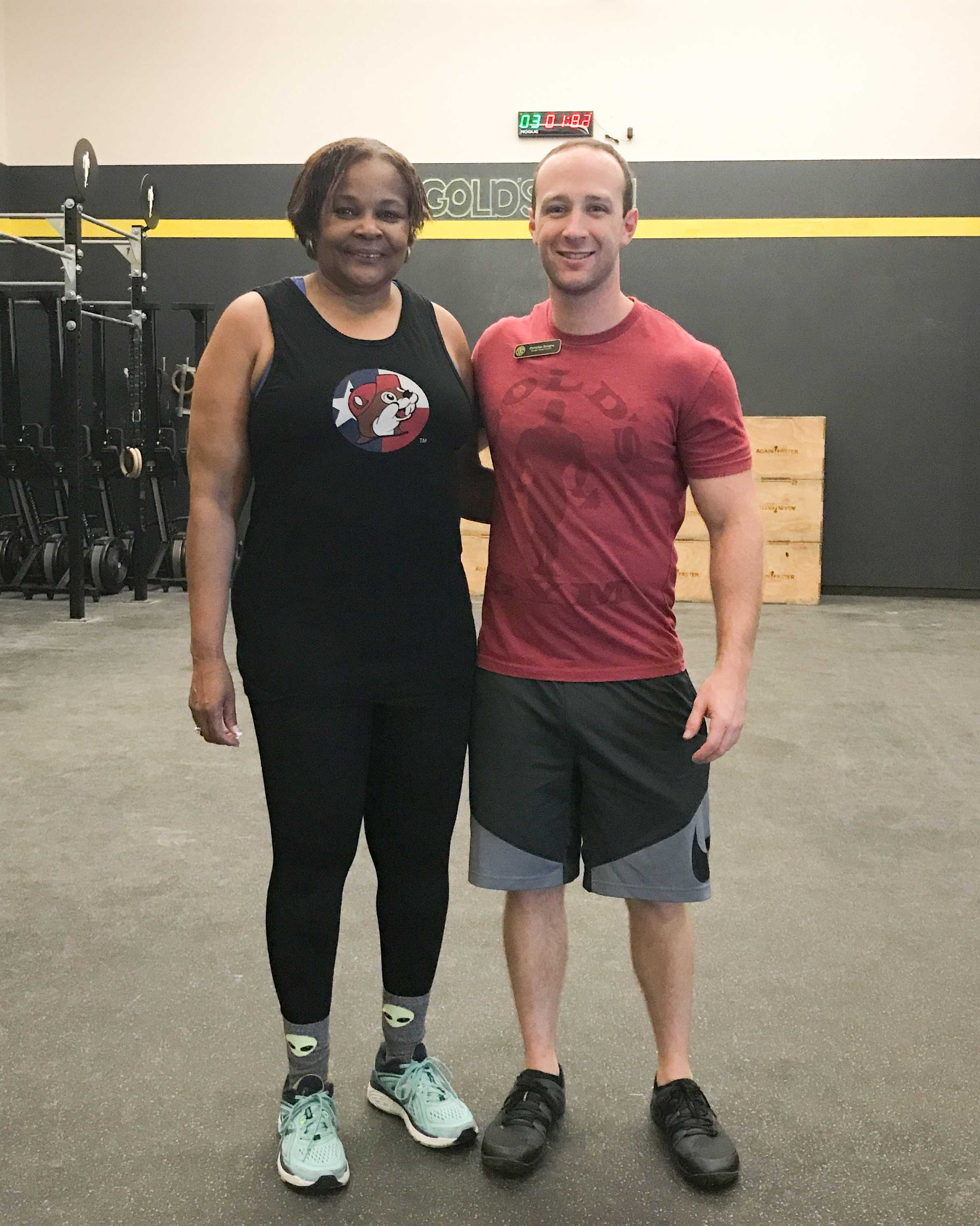 peggy and trainer