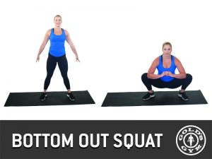 Bottom out squat for legs and glutes workout