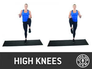 High knees for legs and glutes workout