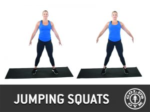 Jumping squats for legs and glutes workout