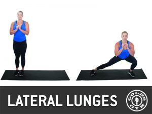 Lateral lunges for legs and glutes workout