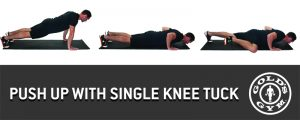 Push Up with Single Knee Tuck
