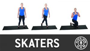 Skaters exercise for legs and glutes workout
