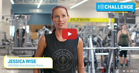 2018 Gold's Gym Challenge Winner:  Jessica