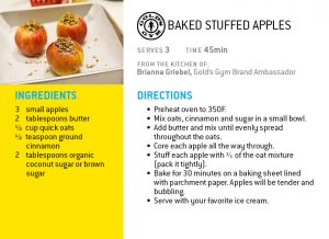 baked stuffed apple holiday recipe