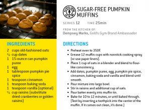 pumpkin muffin holiday recipe