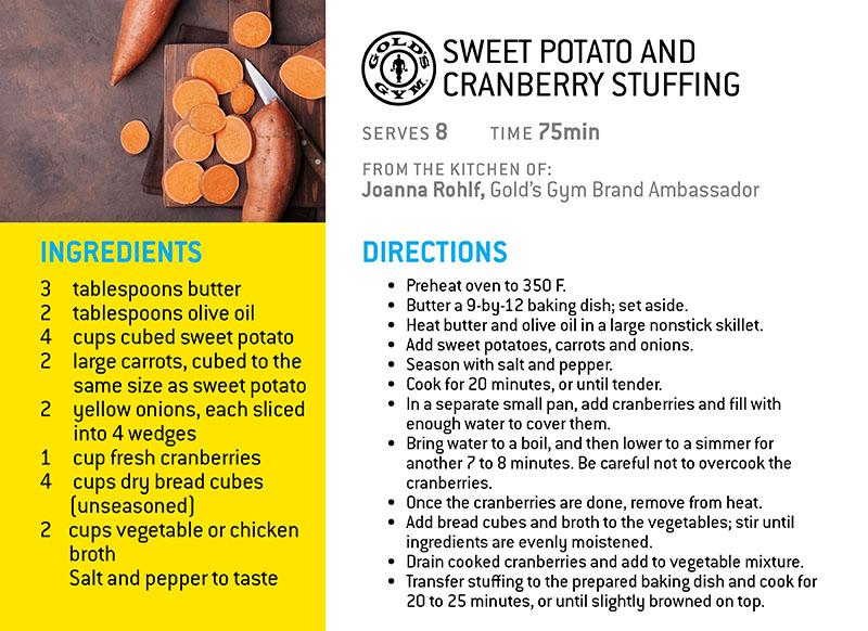 Sweet Potato and Cranberry Stuffing
